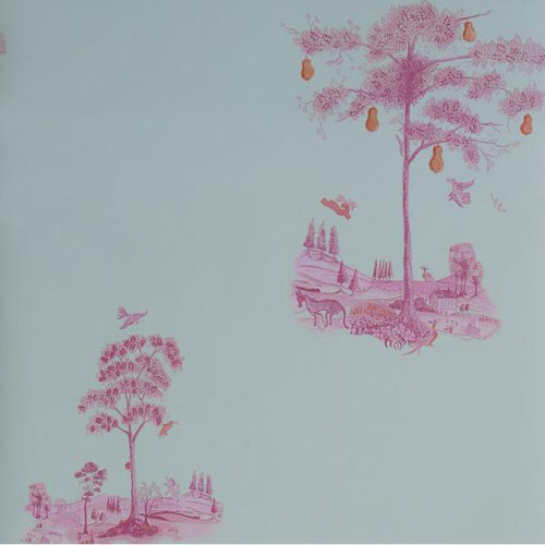 Andrew Martin Wallpaper - Pear Tree - Sunset Pink
