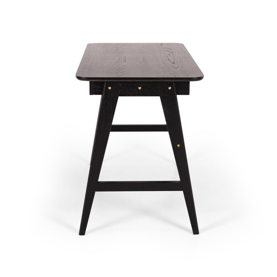 Radius Desk Black - Oak (painted timber)