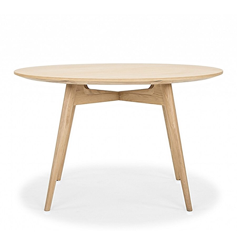 Linea Dining Table - Natural Oak 120 Round
