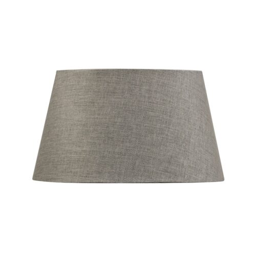CHARCOAL 41CM TAPERED DRUM LAMPSHADE-STEEL + COTTON