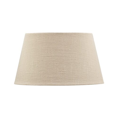 41CM BEIGE LINEN STYLE TAPERED DRUM LAMPSHADE-STEEL& COTTON