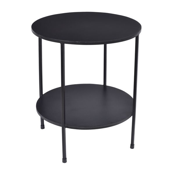 French Country Benny 2 Tiered Table Black