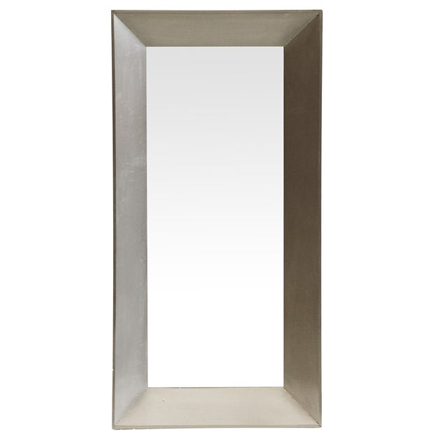 Brass Wrapped Wooden Mirror - Square