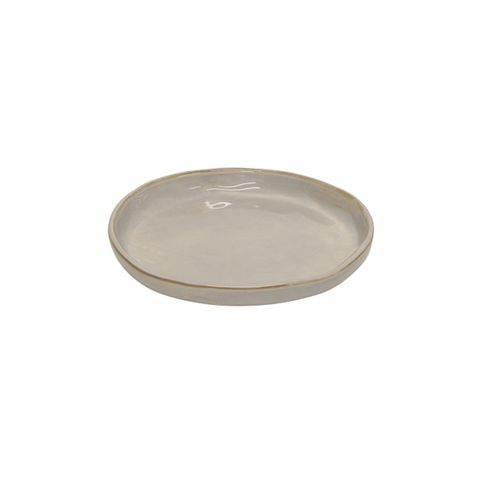 French Country Franco Medium Plate - Rustic White